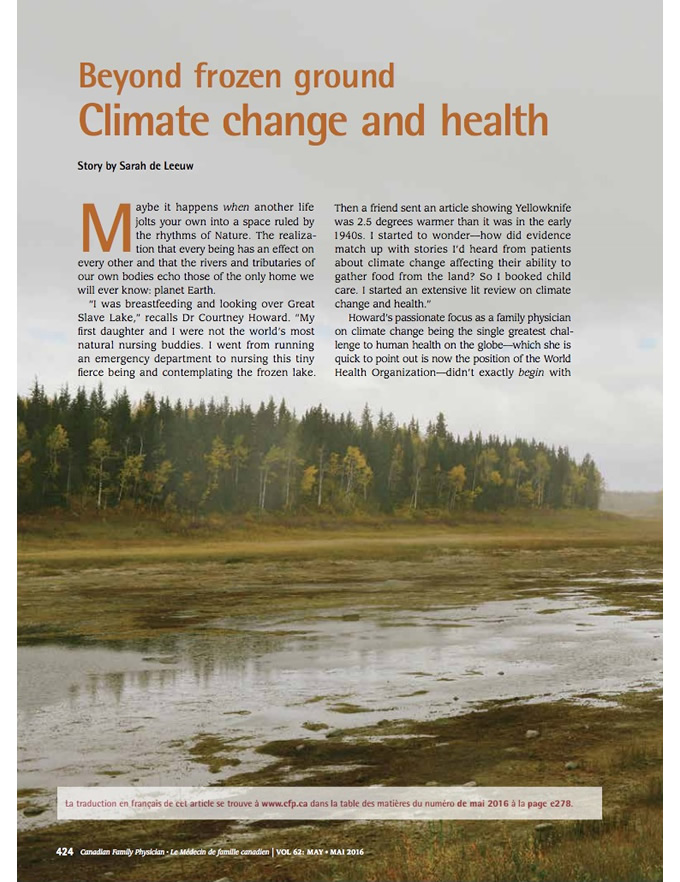 Beyond frozen ground: Climate change and health
