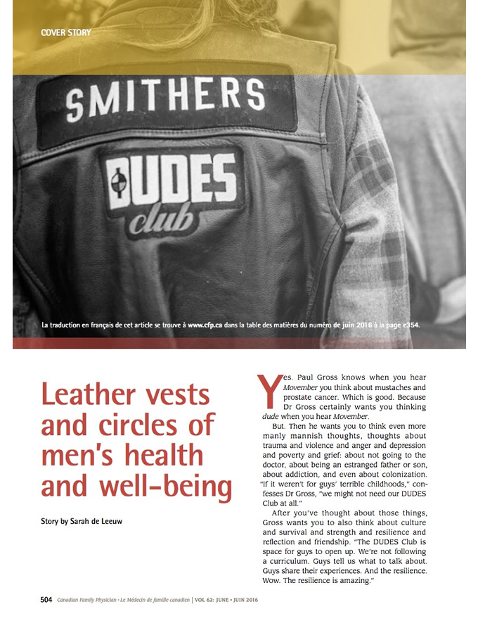 Leather vests and circles of men's health and well-being